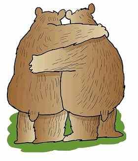 abrazados osos