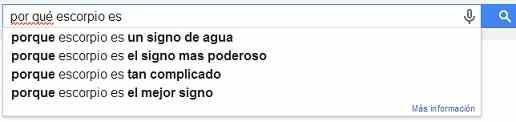 escorpio en google