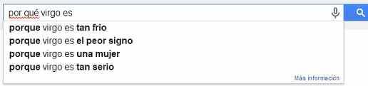 virgo en google