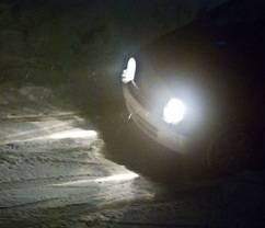 coche de noche